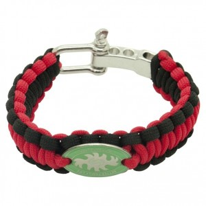 Red/Black Survival Bracelets