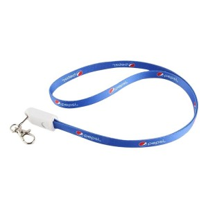 2 in 1 Lanyard USB Charging and Data Cable for iPhone and Android with Keychain Nylon