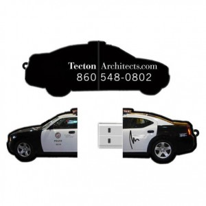 Custom Police Car USB Flash Drive