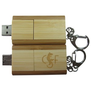 Eco Friendly Rectangle Wood USB Flash Drive