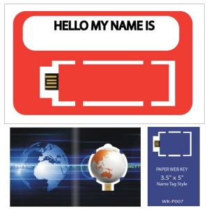 "Paper Web Key 3.5"" x 5"" Name Tag"