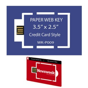 "Paper Web Key 3.5"" x 2"" Business Card"