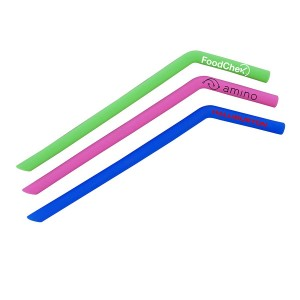 Reusable Silicone Drinking Straw Curved