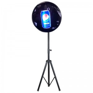 High Resolution Wi-Fi 3D Hologram Projector Advertising Display with Protective Cover and Tripod Stand
