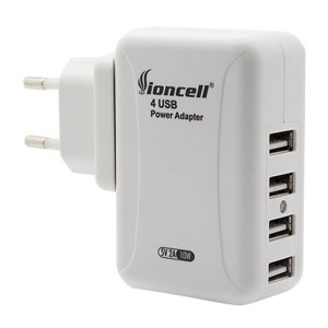 Universal International Travel AC Adapter W/4 USB Port