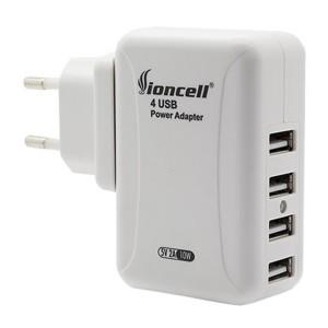 Universal International Travel AC Adapter W/4 USB Port