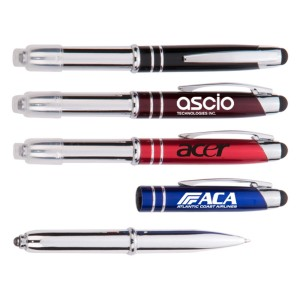 3-in-1 Stylus/Ballpoint Pen & LED Flashlight
