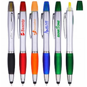 3-in-1 Stylus/Ballpoint Pen and Yellow Highlighter