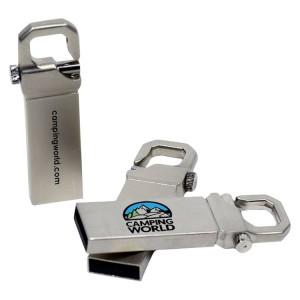 Capless Metal Key Ring USB Drive