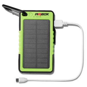 Solar Power Bank 6000mAh w/LED Flashlight