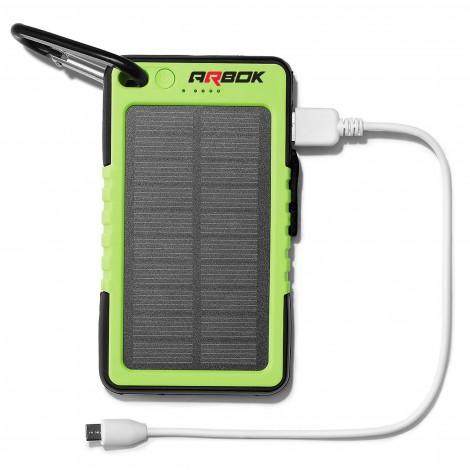 Solar Power Bank 6000mAh w/LED Flashlight