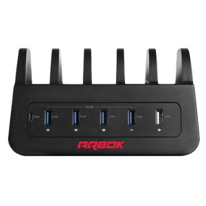 5 Port USB Charging and Docking Station