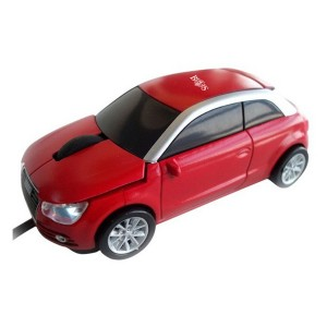 Red Audi Wired Car Mouse