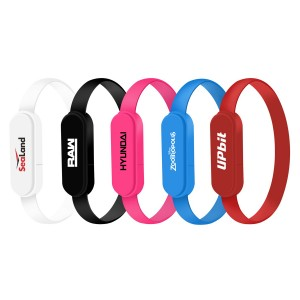 Bracelet Wristband USB Data Transfer & Charging Cable 2 in 1 Connector
