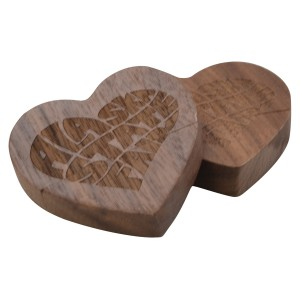 Eco Friendly Heart Shape Wood USB Flash Drive