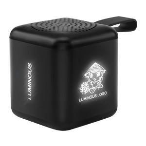 Mini Cube Bluetooth 5.0 Speaker with Light Up Logo
