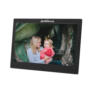 "7"" LCD Digital Photo Frame w/Brushed Metal Finish"