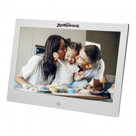 """Metal 10"""" Digital Picture Frame Picture Slide Show / Video / Audio"""
