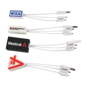 Custom PVC 4 In 1 Charging Cable That Works For Most Cell Phones