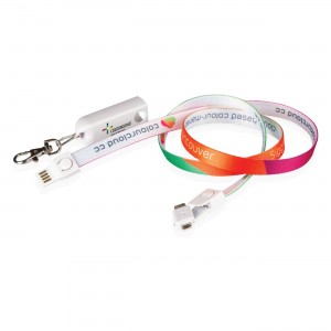 3 in 1 Layard Charging Cable Supports Full Color Printing and Most Cell Phones