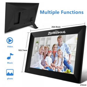 Wi-Fi and App Enabled Frameo Social Digital Picture Frame - Update Picture and Video Remotely