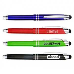 High Quality Metal Pen w/Writing Light and Stylus
