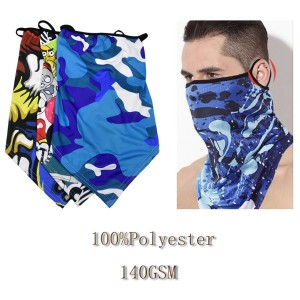 Stylish Bandana Face Mask with Full Color Dye Sublimation and Ear Loop