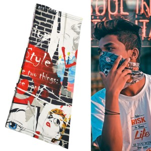 Stylish Bandana Face Mask with Full Color Dye Sublimation