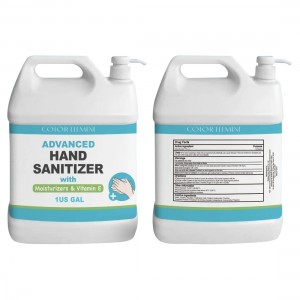 Large Size 1 Gallon Antibacterial Hand Sanitizer Gel with 75% Alcohol and Pump