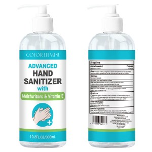 300ML 10OZ Antibacterial Hand Sanitizer Gel with 75% Alcohol and Pump