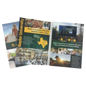 """4"""" HD Video Brochure with Full Color Offset Printing"""