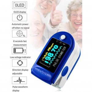 Finger Pulse Oximeter with FDA 510K Certification