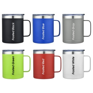 14oz Stainless Steel Vacuum Camping Mug with Handle