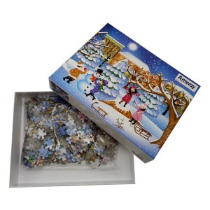 "Custom 500pcs Jigsaw Puzzle 22.4"" x 16.54"" Any Design Low Minimum"