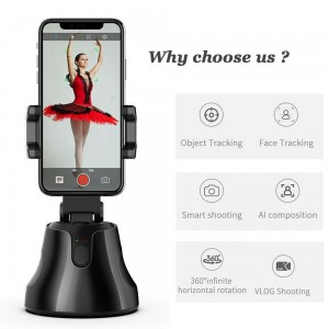 CameraGenie 360° Face and Object Tracking Phone Holder for Smart Shooting