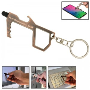 Custom Shape Safety Hands Free Tool with Stylus and Bottle Opener