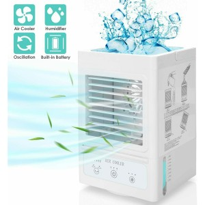 3 in 1 Personal Portable Air Conditioner, Fan and Humidifier 5000mAh Rechargeable Battery