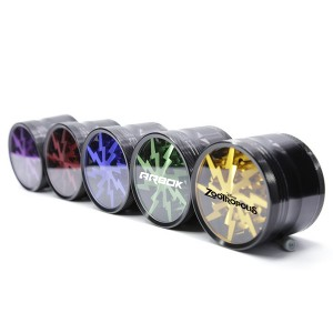 Premium Aluminum Alloy Herb Grinder 2.45 Inches 4 Piece Metal Grinder with Pollen Catcher and Clear Window