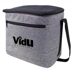 Stylish Heather Gray Leak-Proof Cooler Holds Up To 12 Cans