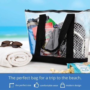 X-Large Security Clear Tote Made from Heavy Duty PVC Material and 600D Polyester