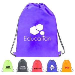Drawstring Backpack Made with Large Imprint Area
