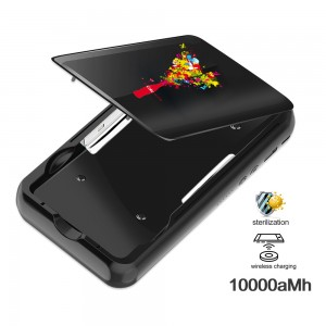 10000mAh Power Bank and UV Sterilizer with C-USB Charging Cord