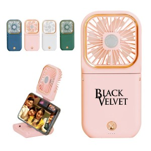 Multi-Use Portable Fan, Power Bank, and Phone Holder Comes in 4 Colors