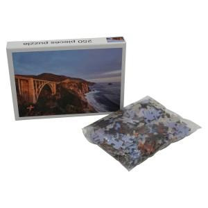 "Custom 250pcs Large Jigsaw Puzzle 14"" x 19"" Any Design Low Minimum"