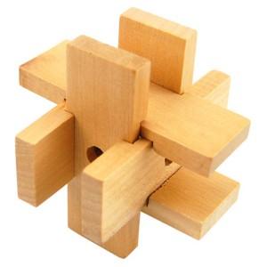 6 Piece Desktop Wooden Puzzle