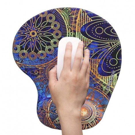 Oval Customizable Lightweight Mouse Pad with Ergonomic Support