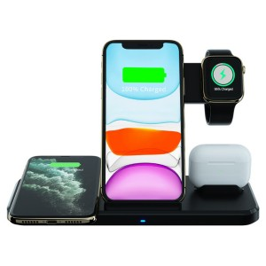 Charging Station that Works with 2 Cellphones, Apple® watch, and Apple® Air Pods