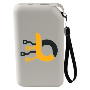 UL Certified 8000mAh Power Bank with Leather Wristlet