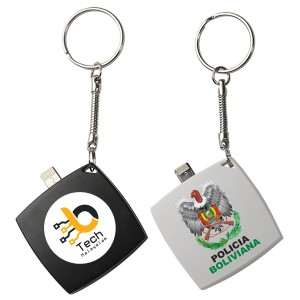 Mini Keychain 6000mAh Power Bank with Micro-USB Port and Apple® 8-Pin Connector