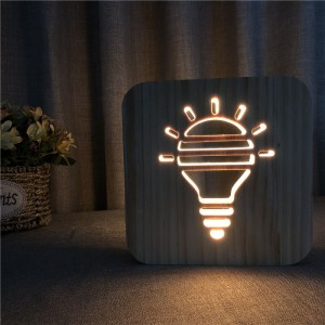 Fully Customizable Wooden Warm Light LED